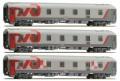 LS Models 48024: Passenger cars Set RZD Moskau-Berlin-Paris