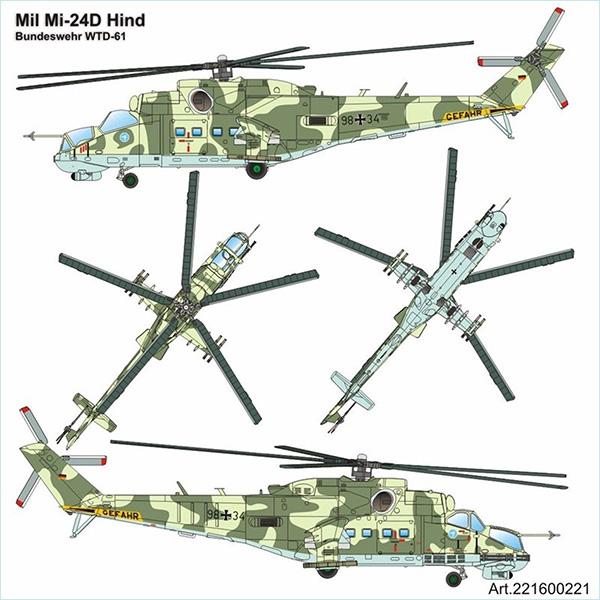 Airpower87 221600221: Mil Mi-24 Hind Helicopter Bundeswehr