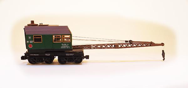 Netuzhilov 12321: Crane wagon PK TsUMZ 15 green