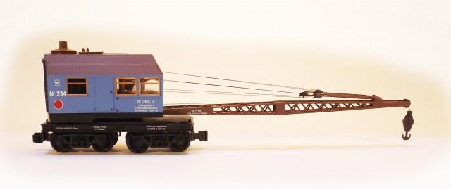 Netuzhilov 12322: Crane wagon PK TsUMZ 15 blue