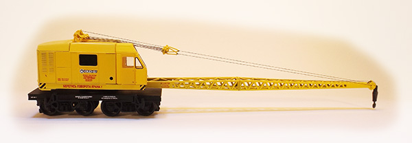 Netuzhilov 12381: Crane wagon KDE-161 yellow