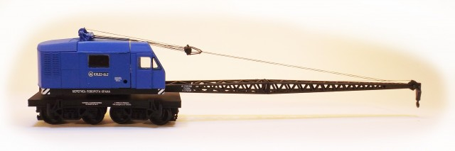 Netuzhilov 12382: Crane wagon KDE-161 blue