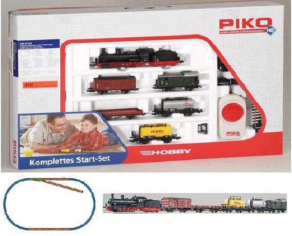 Piko 57120: Starter set Freight train, Steam Engine G7