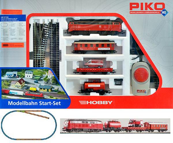 Piko 57153: Стартовый набор Пожарный поезд, Тепловоз БР 218