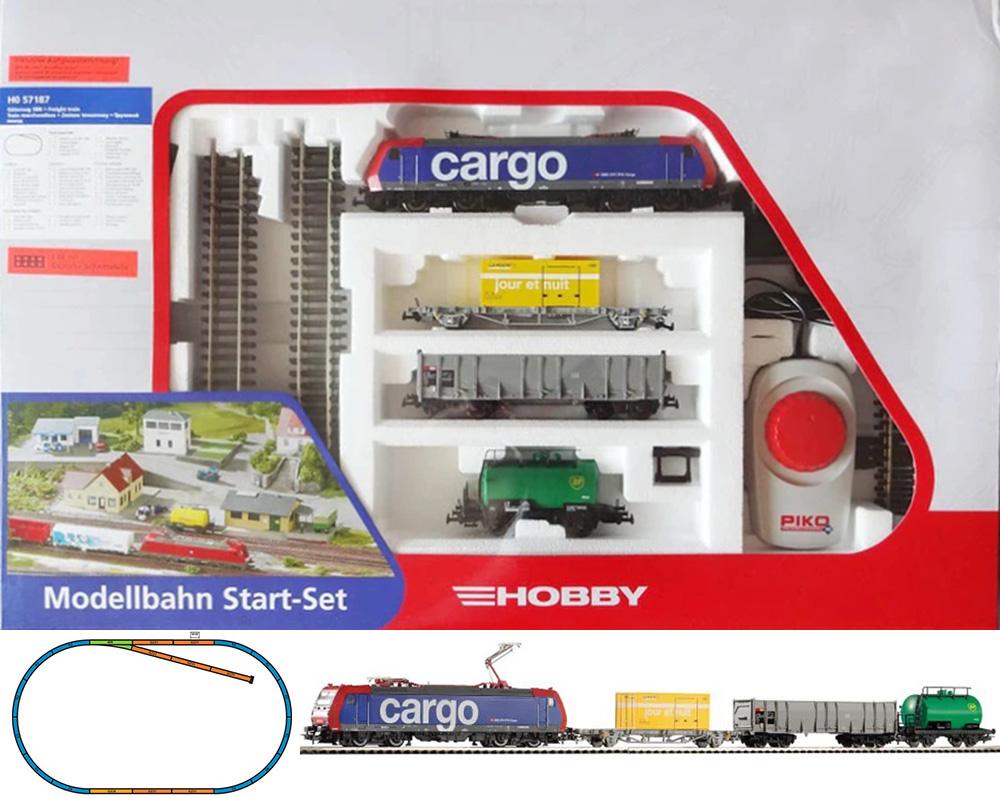 Piko 57187: Starter set Freight train, Electriclokomotive BR185