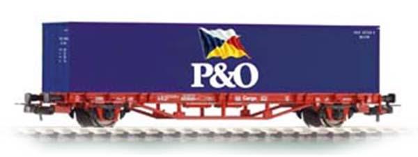 Piko 57706: Konteinervagun Lgs 579 koos konteineritega 'P&O'