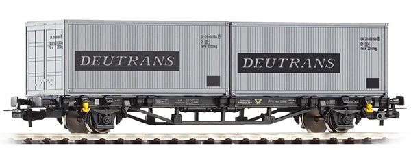 Piko 57747: Cars for container Lgs 579 with load 'Deutrans'