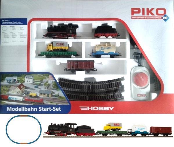 Piko 97913: Стартовый набор Грузовой поезд с паровозом, СЖД