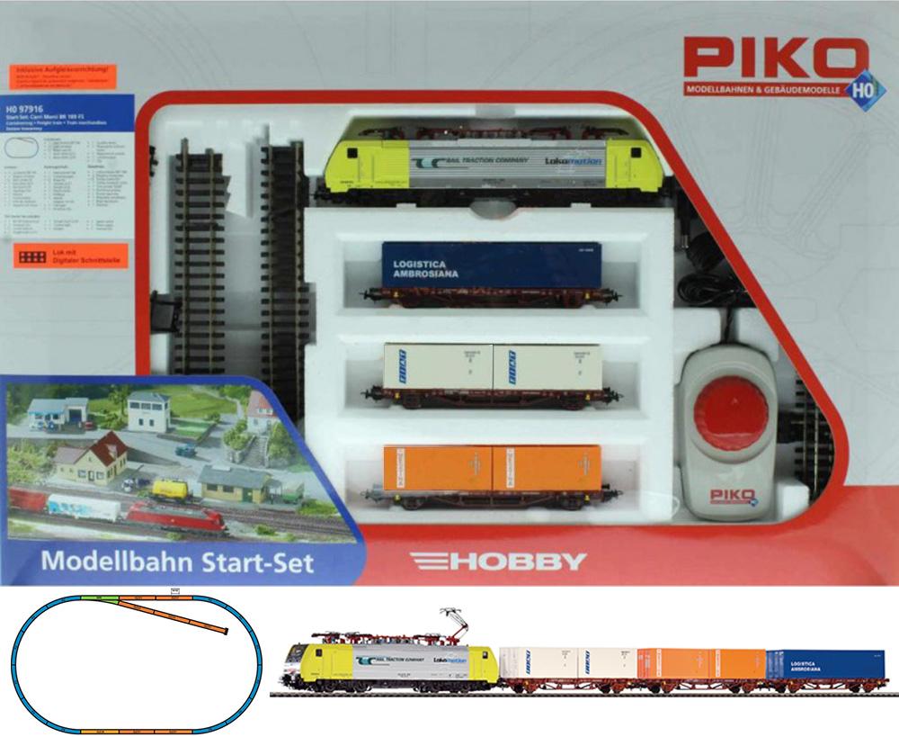 Piko 97916: Starter set Container train, BR 189 Electriclokomotive