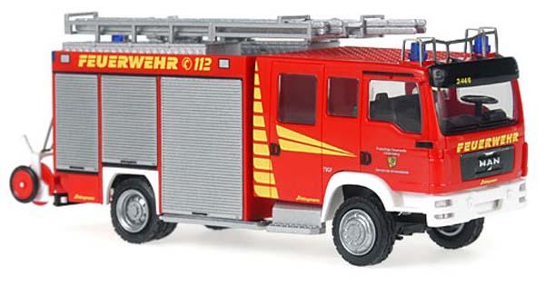 Rietze 68202: SCHLINGMANN MAN TGM LF 20/16 Fire department Lindenberg