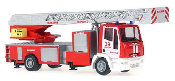 Rietze 68501: Iveco Magirus DLK 32 Fire department Moskau (RUS)