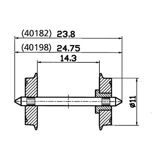 Roco 40198: Wheel set