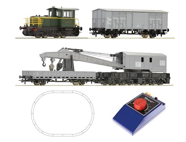 Roco 51157: Starter set D.214 and crane train