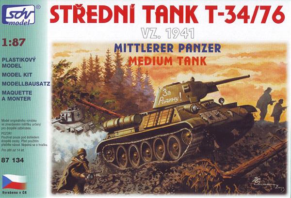 SDV Model 87134: T-34/76 1941 Soviet medium tank