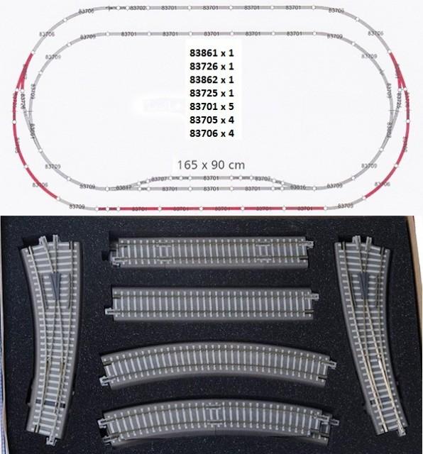 Tillig 01835: Track set with ballast