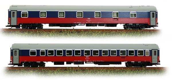 Tillig 58011: Passenger car WLABmee Set RZD