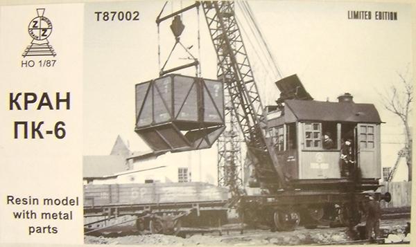 ZZ Models T87002: Steam crane wagon PK-6